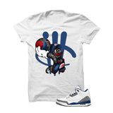 Jordan 3 Og True Blue White T Shirt (Mario Ball) - illCurrency Matching T-shirts For Sneakers and Sneaker Release Date News - 1