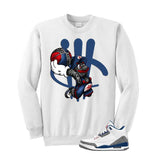 Jordan 3 Og True Blue White T Shirt (Mario Ball) - illCurrency Matching T-shirts For Sneakers and Sneaker Release Date News - 2
