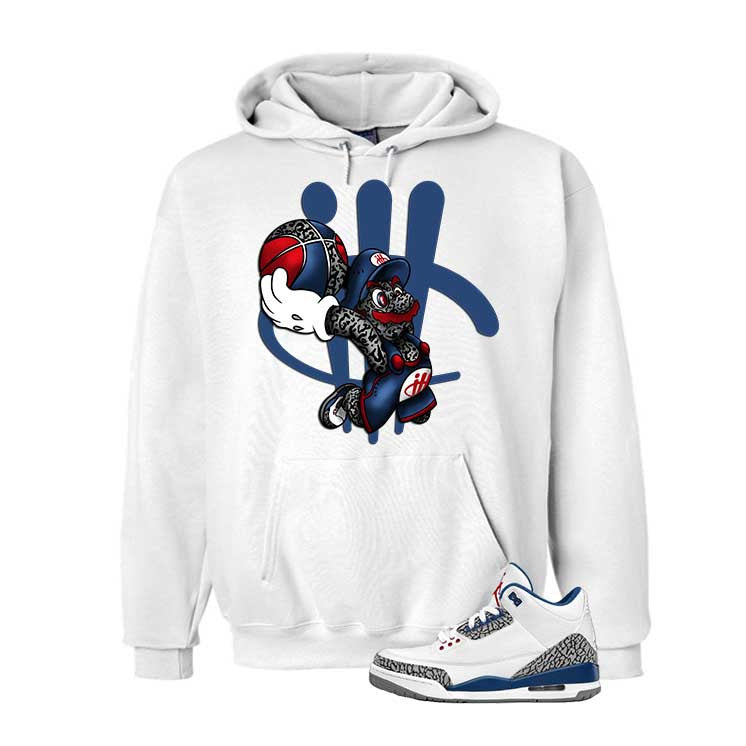 Jordan 3 Og True Blue White T Shirt (Mario Ball) - illCurrency Matching T-shirts For Sneakers and Sneaker Release Date News - 3