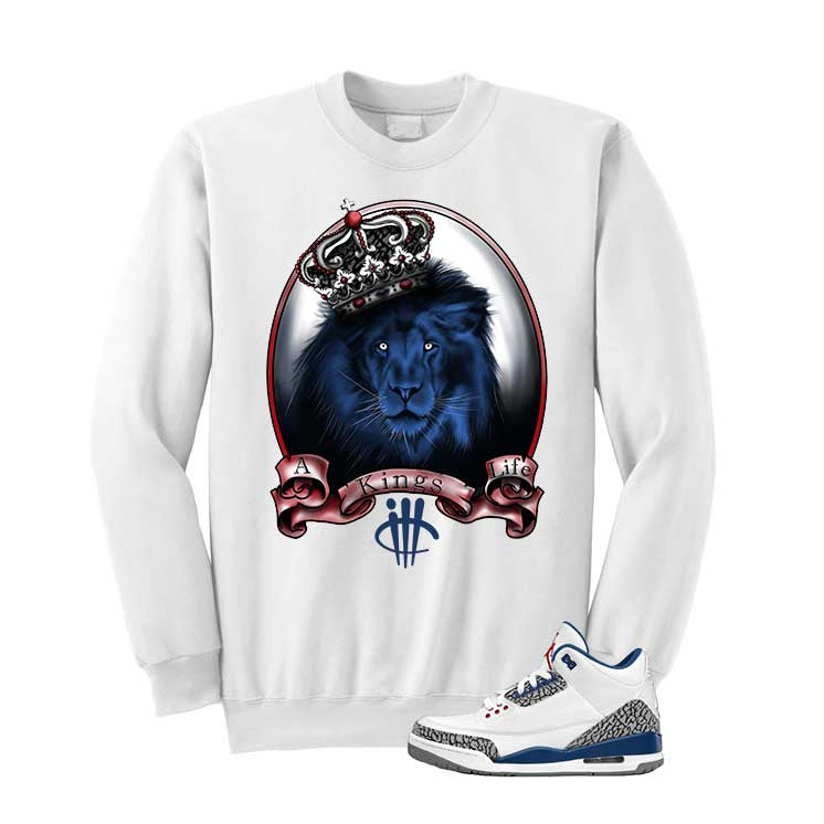 Jordan 3 Og True Blue White T Shirt (Kings Life) - illCurrency Matching T-shirts For Sneakers and Sneaker Release Date News - 2
