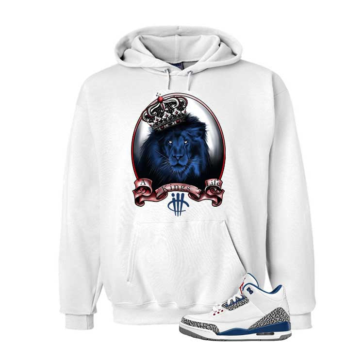 Jordan 3 Og True Blue White T Shirt (Kings Life) - illCurrency Matching T-shirts For Sneakers and Sneaker Release Date News - 3