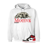 Jordan 1 Og Black Toe White T Shirt (Money Is The Motive) - illCurrency Matching T-shirts For Sneakers and Sneaker Release Date News - 3