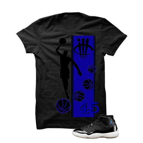 Jordan 11 Space Jam Black T Shirt (Mj)