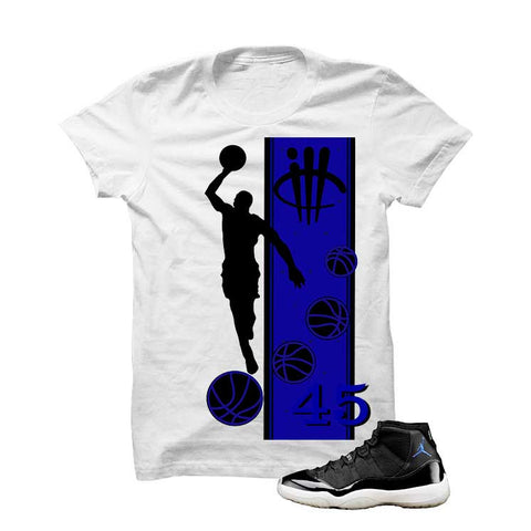 Jordan 11 Space Jam White T Shirt (Mj)