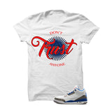 Jordan 3 Og True Blue White T Shirt (Trust No One) - illCurrency Matching T-shirts For Sneakers and Sneaker Release Date News - 1
