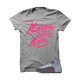 Jordan 12 Gs Vivid Pink Grey T Shirt (Haters Gonna Hate) - illCurrency Matching T-shirts For Sneakers and Sneaker Release Date News
