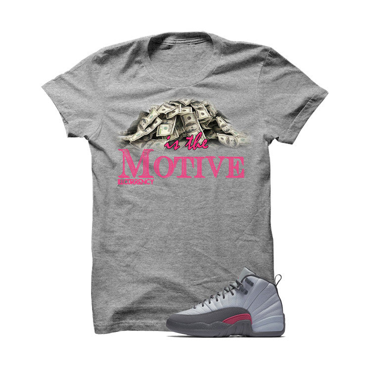 Money is always the motive with this t-shirt, perfect for your Jordan 12 Gs Vivid Pink sneakers