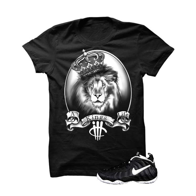 Foamposite Pro Dr. Doom Black T Shirt (Kings Life) - illCurrency Matching T-shirts For Sneakers and Sneaker Release Date News - 1