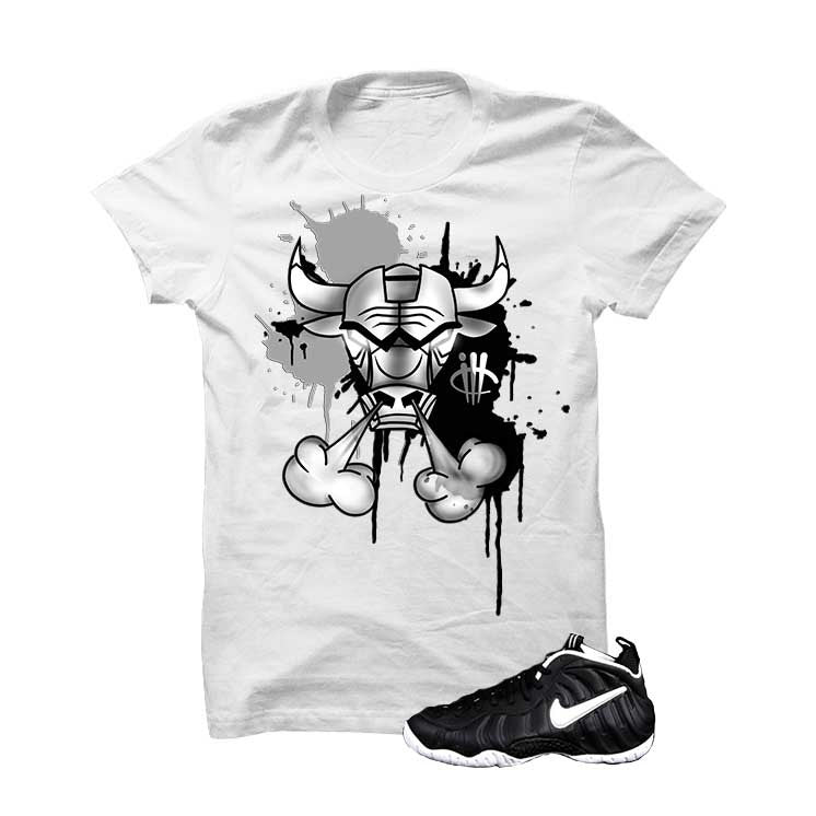 Foamposite Pro Dr. Doom White T Shirt (Iron Bull) - illCurrency Matching T-shirts For Sneakers and Sneaker Release Date News - 1