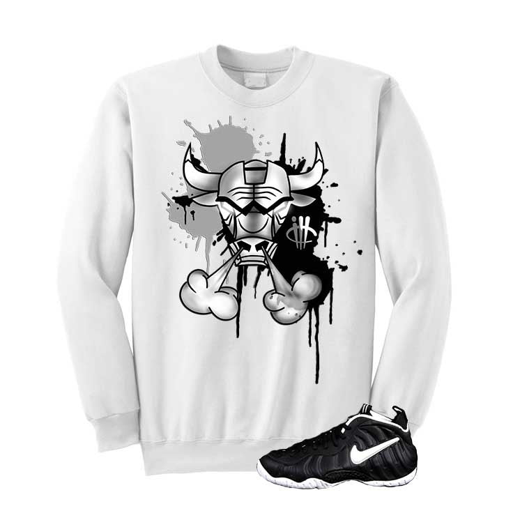 Foamposite Pro Dr. Doom White T Shirt (Iron Bull) - illCurrency Matching T-shirts For Sneakers and Sneaker Release Date News - 2