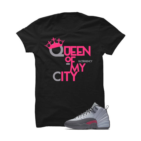 Jordan 12 Gs Vivid Pink Grey T Shirt (Haters Gonna Hate)