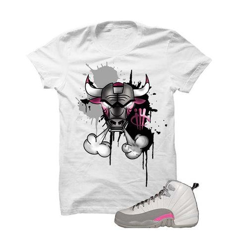 Jordan 12 Gs Vivid Pink Black T Shirt (The Dream)