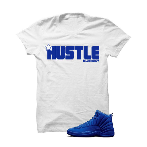 Jordan 12 Blue Suede White T Shirt (Haters Gonna Hate