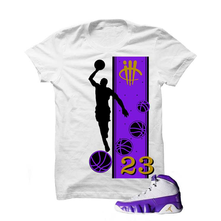 Jordan 9 Lakers White T Shirt (Mj) - illCurrency Matching T-shirts For Sneakers and Sneaker Release Date News - 1