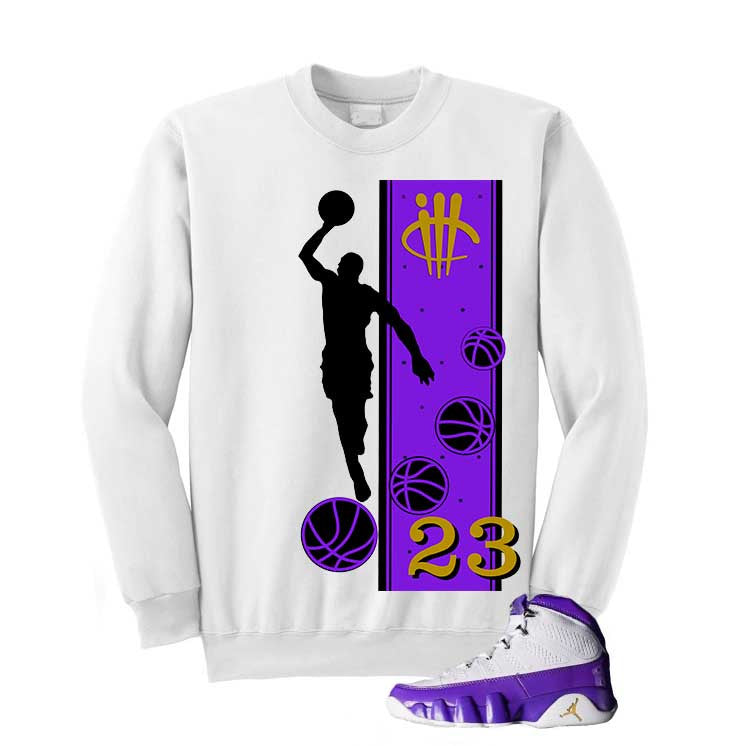 Jordan 9 Lakers White T Shirt (Mj) - illCurrency Matching T-shirts For Sneakers and Sneaker Release Date News - 2