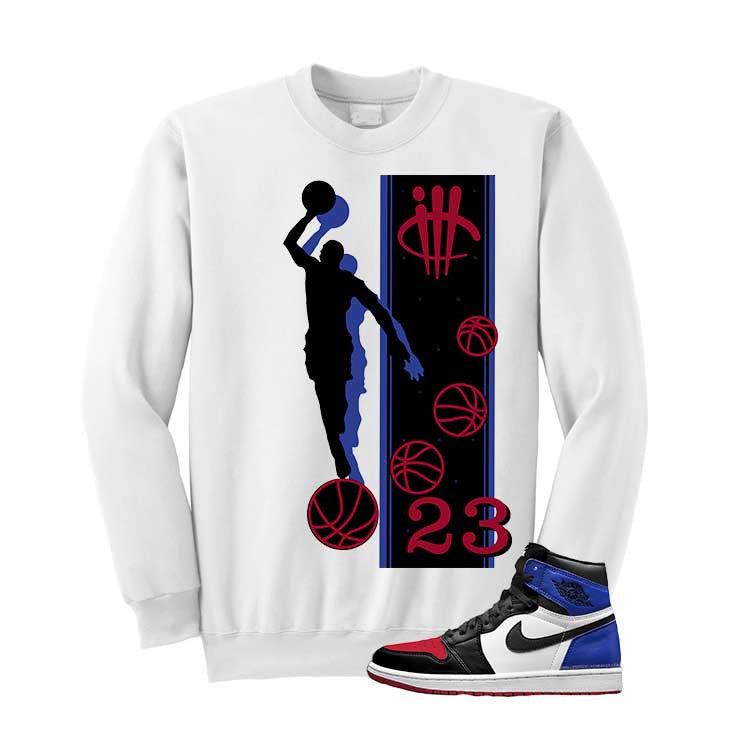 Jordan 1 Top 3 White T Shirt (Mj 23) - illCurrency Matching T-shirts For Sneakers and Sneaker Release Date News - 2