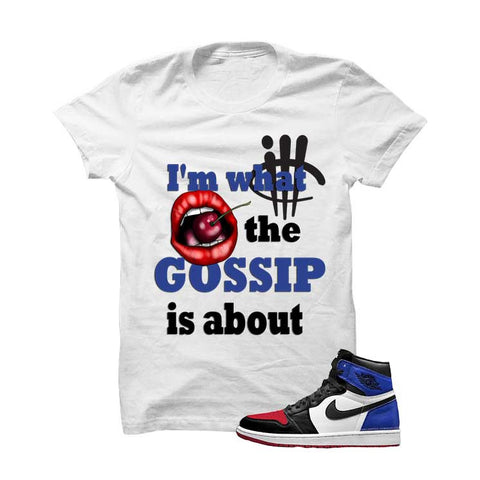 Jordan 1 Top 3 White T Shirt (Mj 23)