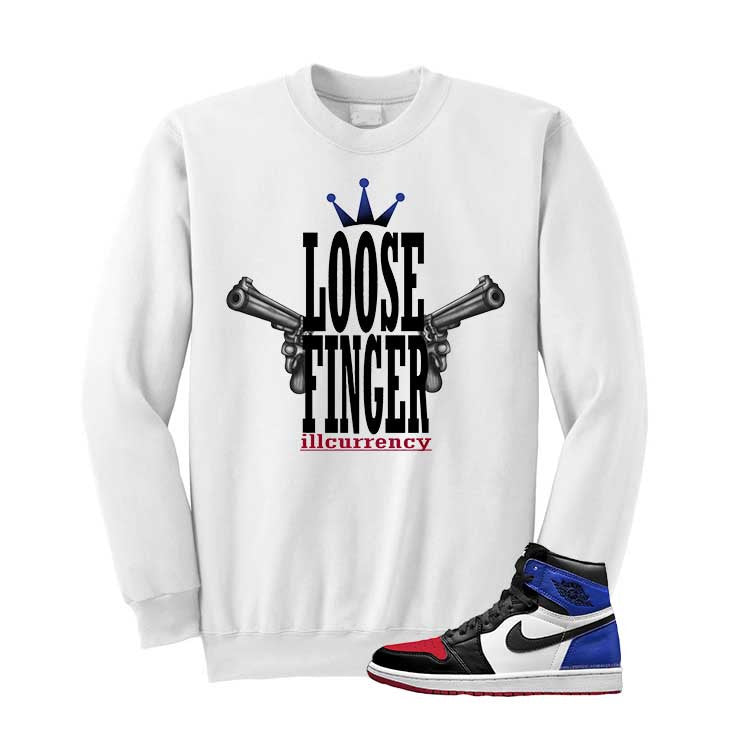 Jordan 1 Top 3 White T Shirt (Loose Finger) - illCurrency Matching T-shirts For Sneakers and Sneaker Release Date News - 2