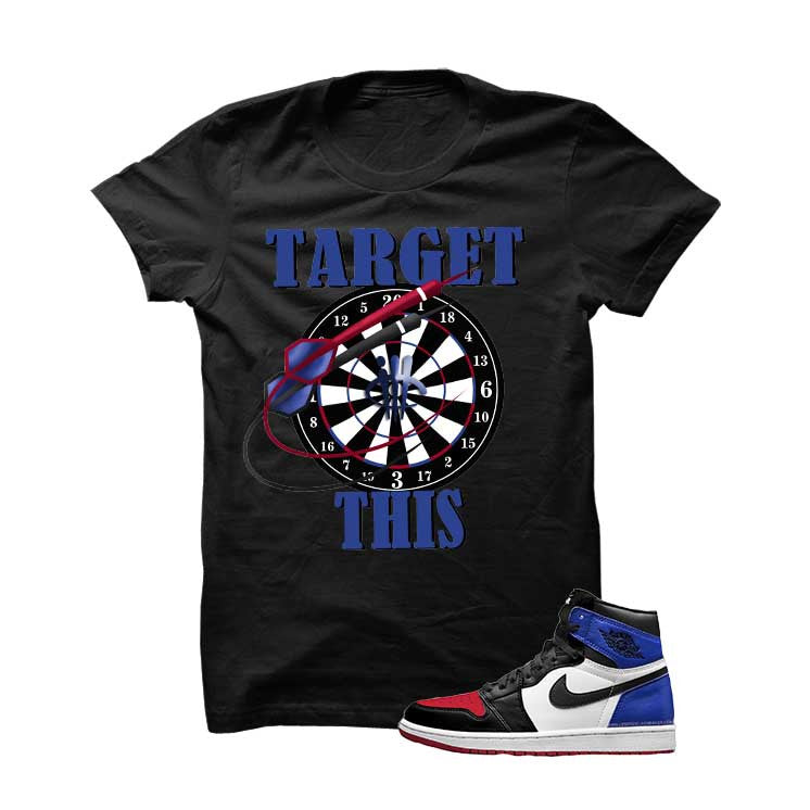 Jordan 1 Top 3 Black T Shirt (Targets) - illCurrency Matching T-shirts For Sneakers and Sneaker Release Date News - 1