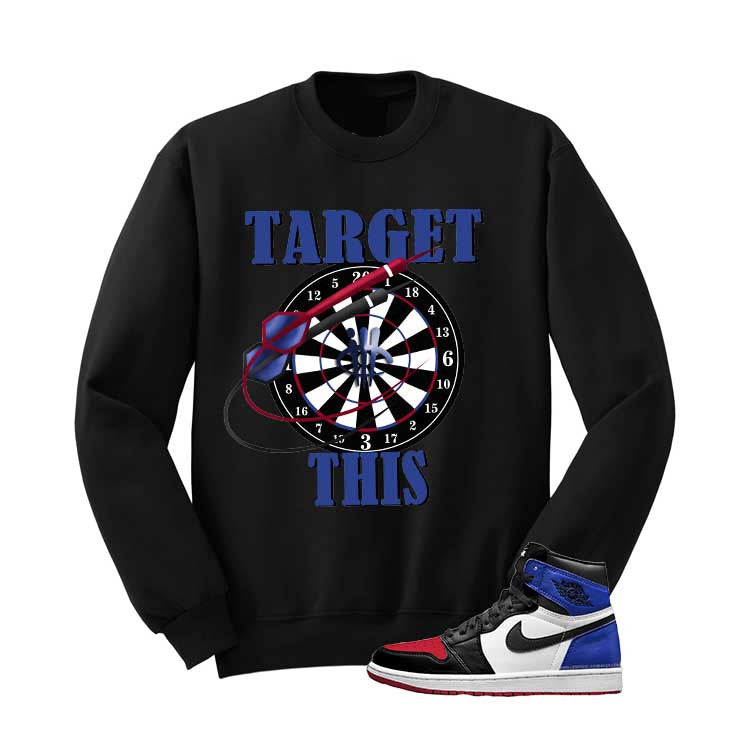 Jordan 1 Top 3 Black T Shirt (Targets) - illCurrency Matching T-shirts For Sneakers and Sneaker Release Date News - 2