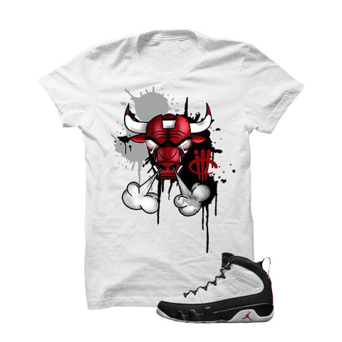 Jordan 9 Og True Red Black T Shirt (Moon man)