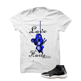 Jordan 11 Space Jam White T Shirt (Love Hurts) - illCurrency Matching T-shirts For Sneakers and Sneaker Release Date News - 1