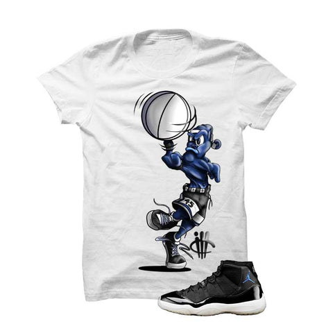 Jordan 11 Space Jam White T Shirt (Spin Ball Alien)