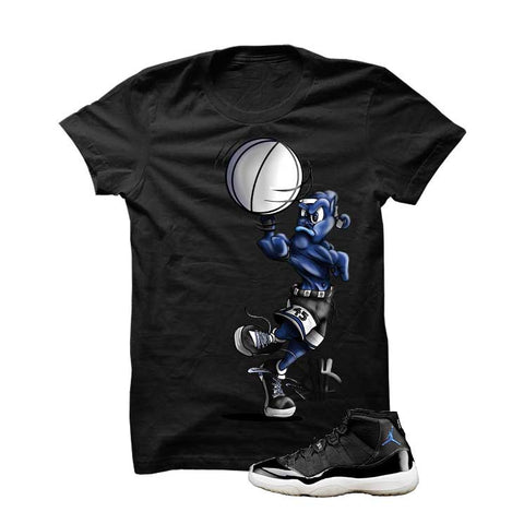 Jordan 11 Space Jam Black T Shirt (Spin Ball Alien)