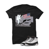 Jordan 9 Og True Red Black T Shirt (Moon man) - illCurrency Matching T-shirts For Sneakers and Sneaker Release Date News - 1