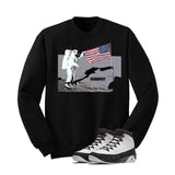 Jordan 9 Og True Red Black T Shirt (Moon man) - illCurrency Matching T-shirts For Sneakers and Sneaker Release Date News - 2