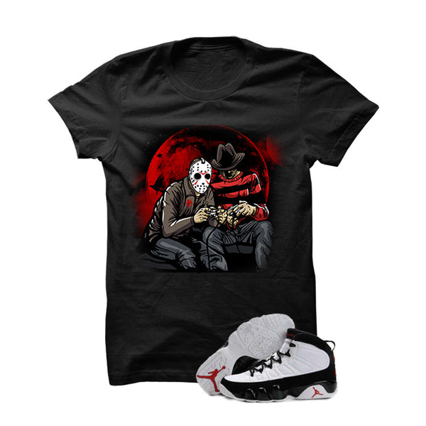 Jordan 9 Og White Black True Red - Official Matching Shirts