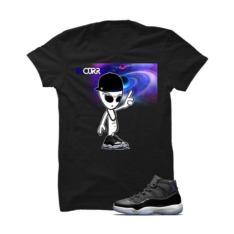 Jordan 11 Space Jam Black T Shirt (Alien Dude)
