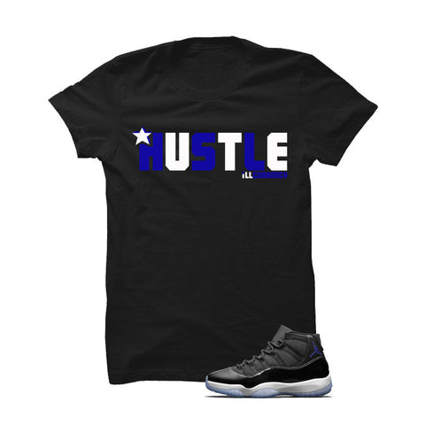 Jordan 11 Space Jam Black T Shirt (Hustle)