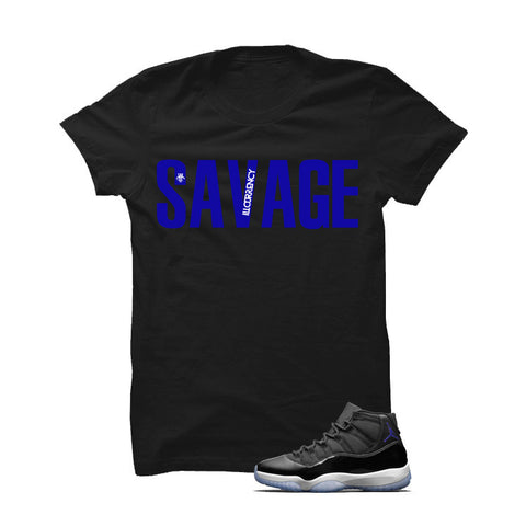 Jordan 11 Space Jam Black T Shirt (Savage)
