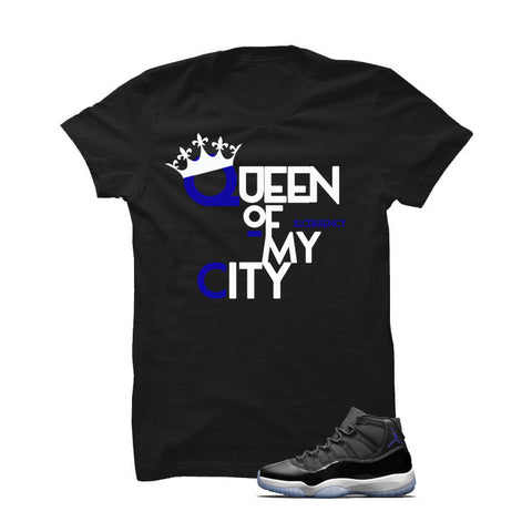 Jordan 11 Space Jam Black T Shirt (Queen Of My City)