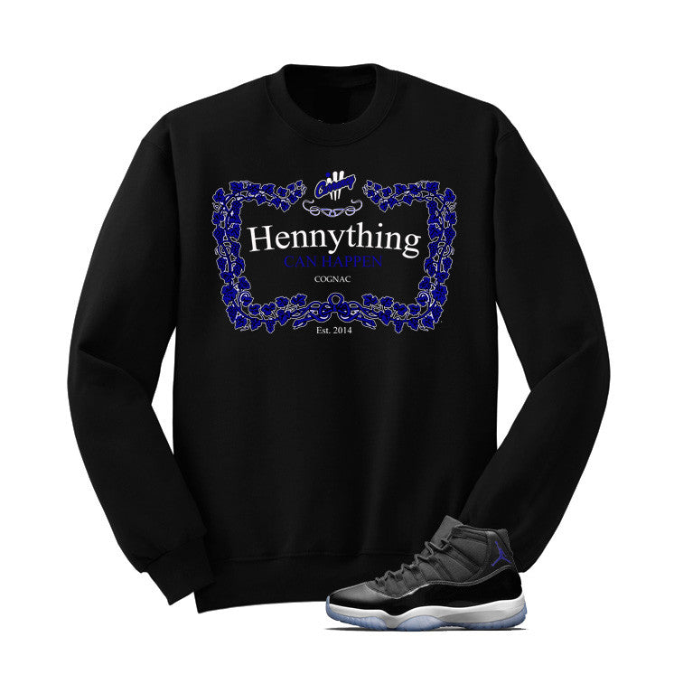 Jordan 11 Space Jam Black T Shirt (Henny) - illCurrency Matching T-shirts For Sneakers and Sneaker Release Date News - 2
