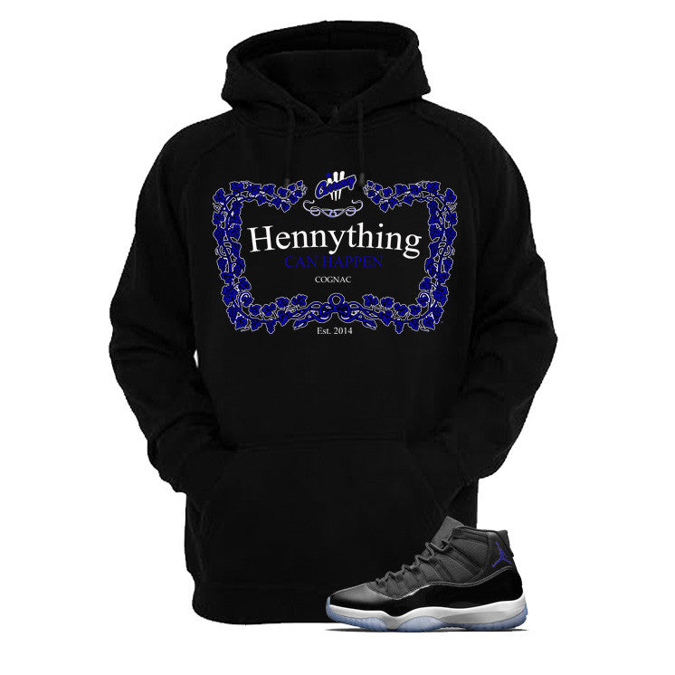 Jordan 11 Space Jam Black T Shirt (Henny) - illCurrency Matching T-shirts For Sneakers and Sneaker Release Date News - 3