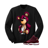 Jordan 11 Velvet Maroon Night Black T Shirt (Teddy Bear) - illCurrency Matching T-shirts For Sneakers and Sneaker Release Date News - 2