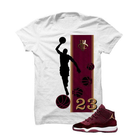Jordan 11 Velvet Maroon Night Black T Shirt (Teddy Bear)