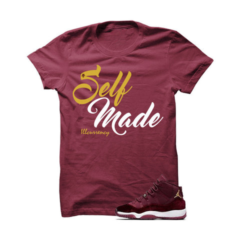 Jordan 11 Velvet Maroon Night White T Shirt (It Hurts)