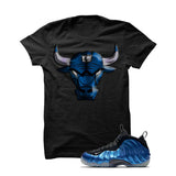 Foamposite One Og Royal Black T Shirt (Iron Bull) - illCurrency Matching T-shirts For Sneakers and Sneaker Release Date News - 1