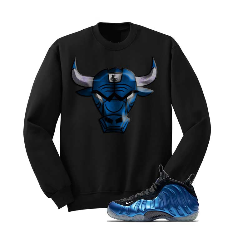 Foamposite One Og Royal Black T Shirt (Iron Bull) - illCurrency Matching T-shirts For Sneakers and Sneaker Release Date News - 2
