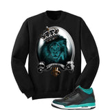 Jordan 3 Gs Black Teal Gold Black T Shirt (A Kings Life) - illCurrency Matching T-shirts For Sneakers and Sneaker Release Date News - 2