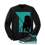 Jordan 3 Gs Black Teal Gold Black T Shirt (Lion) - illCurrency Matching T-shirts For Sneakers and Sneaker Release Date News - 2