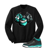 Jordan 3 Gs Black Teal Gold Black T Shirt (See No Evil) - illCurrency Matching T-shirts For Sneakers and Sneaker Release Date News - 2