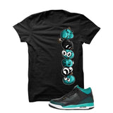 Jordan 3 Gs Black Teal Gold Black T Shirt (Cherry Bombs) - illCurrency Matching T-shirts For Sneakers and Sneaker Release Date News - 1