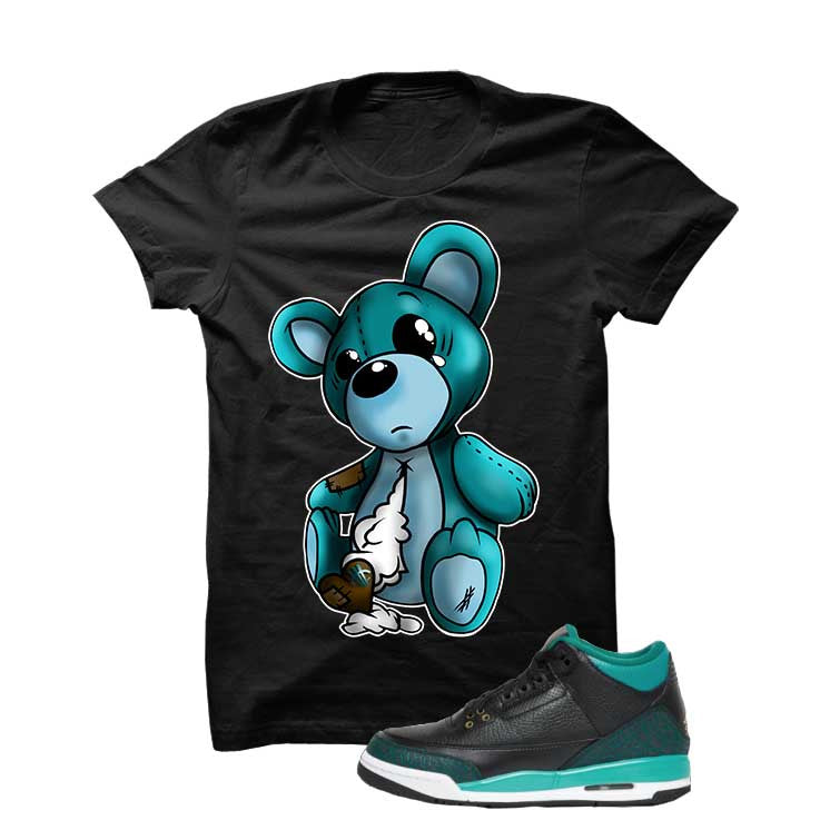 Jordan 3 Gs Black Teal Gold Black T Shirt (Teddy) - illCurrency Matching T-shirts For Sneakers and Sneaker Release Date News - 1