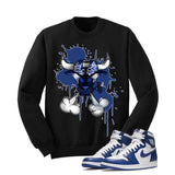 Jordan 1 High OG Storm Blue Black T Shirt (Iron Bull) - illCurrency Matching T-shirts For Sneakers and Sneaker Release Date News - 2