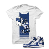 Jordan 1 High OG Storm Blue White T Shirt (Mario Ball) - illCurrency Matching T-shirts For Sneakers and Sneaker Release Date News - 1
