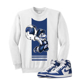 Jordan 1 High OG Storm Blue White T Shirt (Mario Ball) - illCurrency Matching T-shirts For Sneakers and Sneaker Release Date News - 2